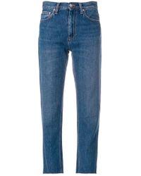 Carhartt - Cropped Raw Hem Jeans - Lyst