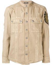 Balmain Distressed Patch Shirt - Naturel