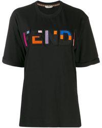 Fendi Ff ロゴ Tシャツ - ブラック