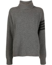 Thom Browne Wool-blend Turtleneck Sweater - Gray
