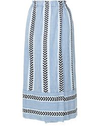 lemlem - Pinstripes Wrap Skirt - Lyst