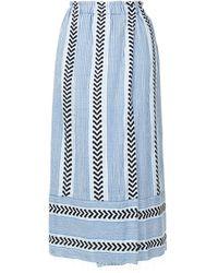 lemlem Pinstripes Wrap Skirt - ブルー