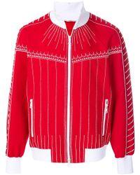 Valentino - Exposed Seam Zipped Sweatshirt - Lyst