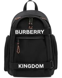 """Burberry Großes Rucksackdesign """"Nevis"""" mit Logo- und """"Kingdom""""-Schriftzug - Schwarz"""
