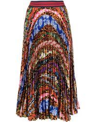 Stella Jean プリーツスカート - マルチカラー