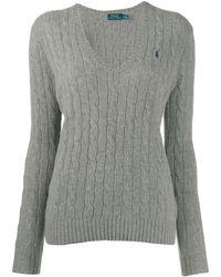 Polo Ralph Lauren Джемпер Фактурной Вязки - Серый
