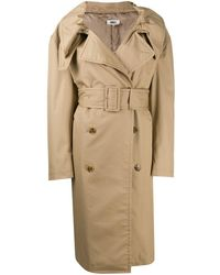 MM6 by Maison Martin Margiela - Trench à revers - Lyst