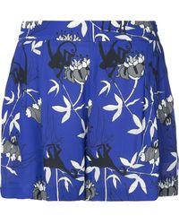 Markus Lupfer Printed high-waisted shorts - Blau
