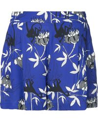 Markus Lupfer Printed High-waisted Shorts - Blue