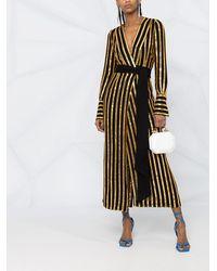 Galvan London Двухцветное Платье Миди С Пайетками - Черный