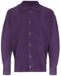 Issey Miyake Plissé Shirt Jacket - Purple