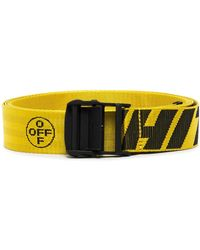 Off-White c/o Virgil Abloh And Black Industrial Logo Belt - Yellow