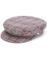 Manokhi - Houndstooth Baker Boy Hat - Lyst