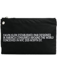 CALVIN KLEIN 205W39NYC Est. Clutch Met Merk - Zwart