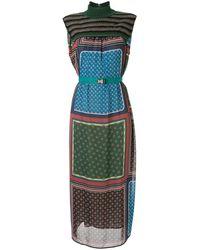Kolor マルチパネル ドレス - グリーン