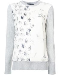 Derek Lam - Long Sleeve Mixed Print Crewneck Jumper - Lyst