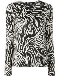 Proenza Schouler ゼブラ ロングtシャツ - ブラック
