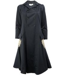 Wales Bonner - Flared Embroidered Coat - Lyst