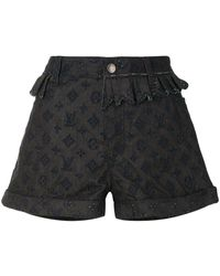 Louis Vuitton Denim Shorts - Zwart