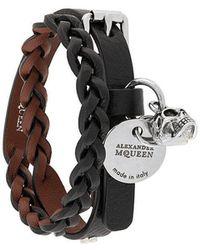 Alexander McQueen - Doppeltes Armband - Lyst