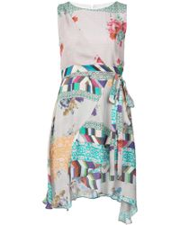 Nicole Miller Floral pattern dress - Blu