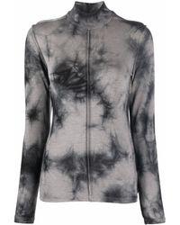 Thom Krom Roll-neck Long-sleeved T-shirt - Grey