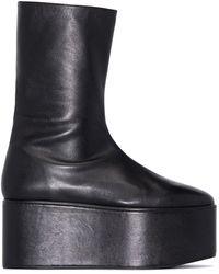 Molly Goddard Corinthia 90mm プラットフォーム ブーツ - ブラック