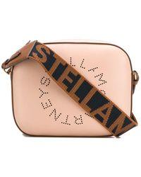 Stella McCartney Umhängetasche mit Logo-Riemen - Pink