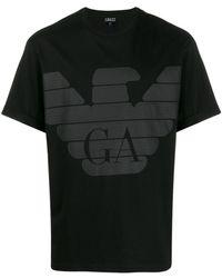 Emporio Armani T-shirt à imprimé graphique - Noir