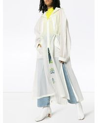 Angel Chen Tiger embroidered oversized coat - Weiß