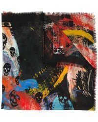 Alexander McQueen - Écharpe à têtes de mort imprimées - Lyst