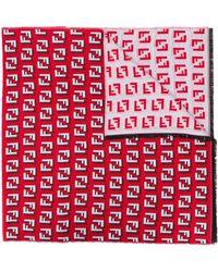 Fendi Écharpe à motif monogrammé - Rouge