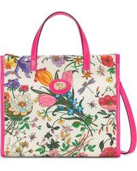 Gucci Medium Flora Draagtas - Wit