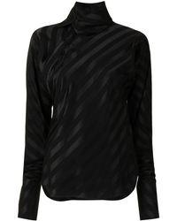 Shanghai Tang Рубашка Bias В Полоску - Черный