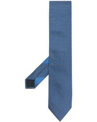 Ermenegildo Zegna Foulard con motivo geometrico - Blu