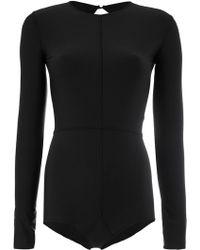 Ann Demeulemeester - Fitted Longsleeved Bodysuit - Lyst