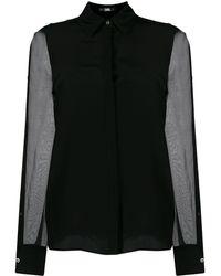 Karl Lagerfeld シアースリーブ シャツ - ブラック