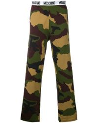 Moschino - Logo Waistband Camouflage Track Trousers - Lyst