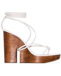 Jacquemus Strappy Wedge Sandals - White
