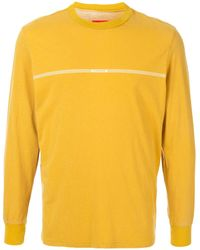 Supreme ロゴストライプ ロングtシャツ - イエロー