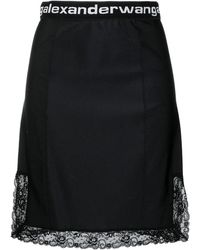 Alexander Wang Logo Trim Mini Skirt - Black