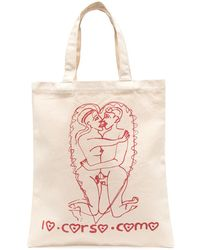 10 Corso Como Сумка-тоут С Графичным Принтом - Розовый