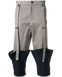 Chalayan Pantaloni crop - Grigio
