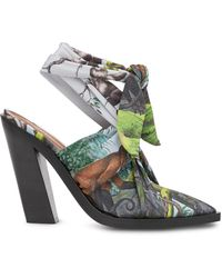 Burberry Scarf Tie Point-toe Mules - Green