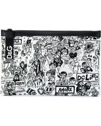 Dolce & Gabbana - Pouch con stampa graffiti - Lyst