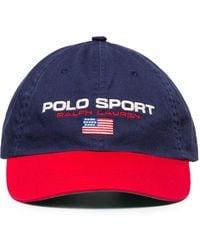 Polo Ralph Lauren Polo Sport コットン野球帽 - ブルー