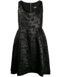 Comme des Garçons ノースリーブ プリーツドレス - ブラック