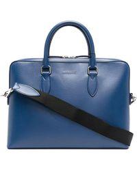 Burberry Aktentasche mit Logo - Blau