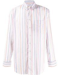 Etro - Полосатая Рубашка На Пуговицах - Lyst