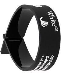 Off-White c/o Virgil Abloh Bracelet à logo imprimé - Noir